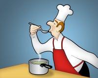 Cottura del cuoco unico Fotografia Stock