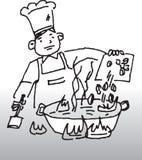 Cottura del cuoco unico illustrazione vettoriale