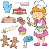 Cottura del dolce Immagine Stock