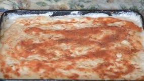 Cottura del lasso di tempo della pizza archivi video