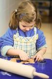 Cottura del pan di zenzero Fotografia Stock Libera da Diritti