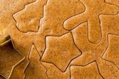 Cottura del pan di zenzero casalingo Fotografia Stock
