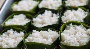 Cottura del riso Fotografia Stock