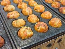 Cottura del takoyaki Fotografia Stock Libera da Diritti