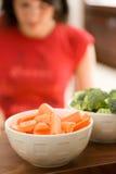 Cottura dell'alimento sano Fotografia Stock Libera da Diritti