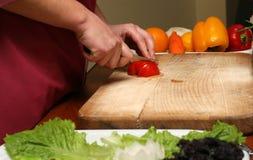 Cottura dell'insalata fotografia stock