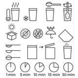 Cottura dell'istruzione del segno per il manuale su imballaggio Immagini Stock