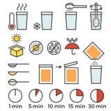 Cottura dell'istruzione del segno per il manuale su imballaggio Immagine Stock Libera da Diritti