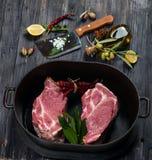 Cottura della carne Fotografie Stock Libere da Diritti
