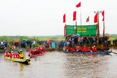 Cottura della concorrenza sul fiume Immagini Stock Libere da Diritti
