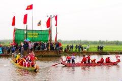 Cottura della concorrenza sul fiume Immagine Stock