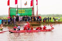 Cottura della concorrenza sul fiume Fotografia Stock Libera da Diritti