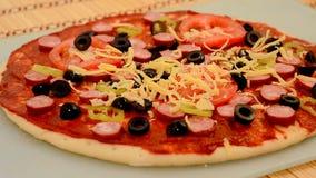 Cottura della pizza video d archivio