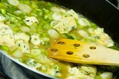 Cottura della salsa Immagini Stock