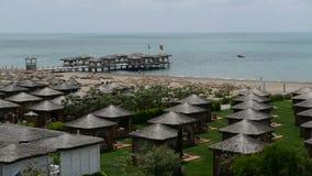 Cottura della spiaggia e delle ville all'albergo di lusso Fotografia Stock