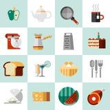 Cottura delle icone dell'alimento Fotografia Stock Libera da Diritti