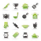 Cottura delle icone dell'attrezzatura Fotografie Stock