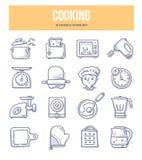Cottura delle icone di scarabocchio royalty illustrazione gratis