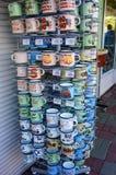 Cottura delle tazze da vendere Fotografia Stock Libera da Diritti