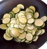 Cottura dello zucchini Immagini Stock Libere da Diritti