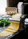 Cottura domestica per le lasagne al forno Fotografia Stock
