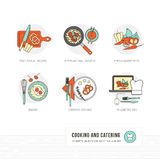 Cottura ed alimento illustrazione di stock