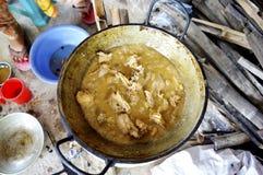 Cottura indiana dell'arrosto del pollo Fotografia Stock Libera da Diritti