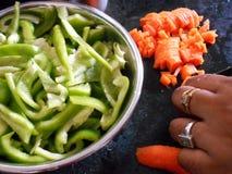 Cottura mista della verdura Fotografia Stock