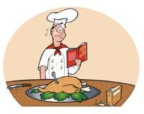 Cottura nervosa del cuoco unico Fotografia Stock Libera da Diritti