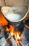 Cottura originale del riso appiccicoso Fotografia Stock Libera da Diritti