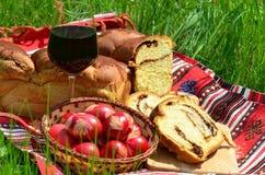 Cottura rumena tradizionale di Pasqua Fotografie Stock Libere da Diritti