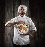 Cottura sana del cuoco unico fotografie stock libere da diritti