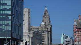 Cottura sparata di architettura 4K di Liverpool archivi video