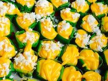 Cottura tailandese del dessert fatta dalla palma di toddy Fotografia Stock Libera da Diritti