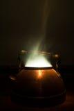 Cottura a vapore del bollitore di tè Fotografie Stock Libere da Diritti