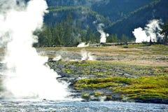 Cottura a vapore del Yellowstone immagini stock libere da diritti