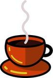 Cottura a vapore della tazza di caffè calda Fotografie Stock