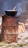 Cottura a vapore dello stile del quartiere ispanico dei tamali Immagine Stock