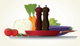 Cottura vegetariana Fotografia Stock Libera da Diritti