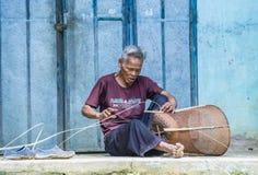 Cotu ethnic minority in Vietnam. QUANG NAM , VIETNAM - OCT 07 : Portrait of a man from the Cotu Minority in Quang Nam Vietnam  on October 07 2017. The Cotu Stock Photo