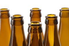 Cou de bouteilles à bière Photographie stock libre de droits