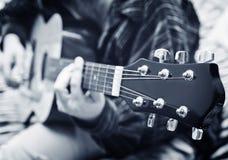Cou de guitare Photo libre de droits