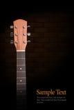 Cou de guitare acoustique Images libres de droits