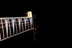 Cou de guitare de six chaînes de caractères Image stock