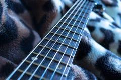 Cou et ficelles de guitare photo stock