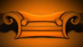 Couch. The orange gothic swinger couch Royalty Free Stock Images