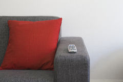 Couch. A couch with red pillow royalty free stock photography