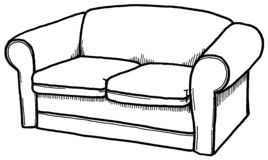 Couch. Illustration of a couch Stock Photo