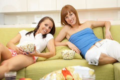 At the couch Royalty Free Stock Image