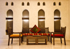 Couch. Arabic style couch and table Royalty Free Stock Image